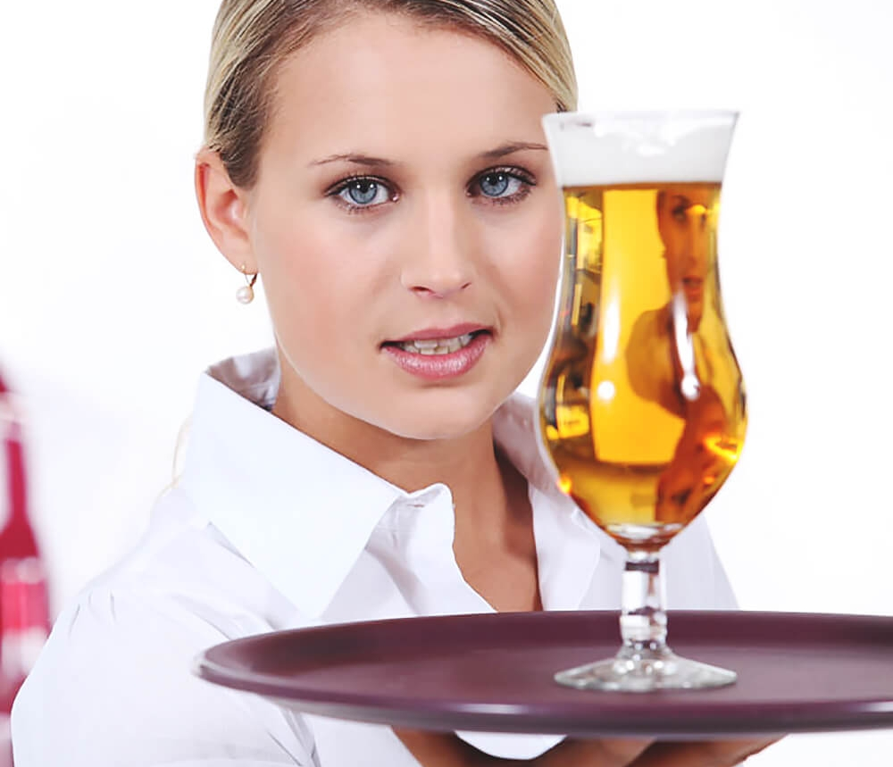 A waitress must balance beer on a tray like a bookkeeper must balance credit and debit in a balance sheet.