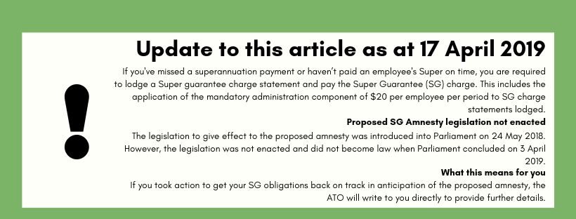 superannuation amnesty